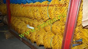 сетка рабица с пвх покрытием жёлтая